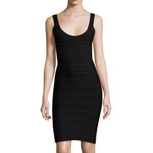 Herve Ledger Sydney U-neck Bandage Dress Size M.